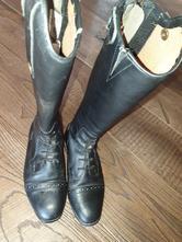 Jezdecké boty vysoké, kožené, 35