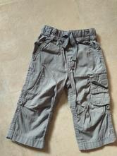 Šedé plátěné roll up kalhoty, next,80
