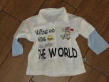 Dětská košile dvojí efekt - frajerská vel. 74 , 74