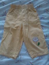 Žluté plátěné kalhoty, 80