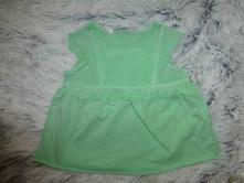 Zelená tunička s krajkou 80/86, next,86