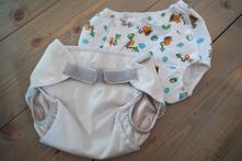 Dvoje svrchní kalhotky s 62, baby lucy,2 kg - 6 kg