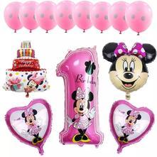 13 kusů balónků k prvním narozeninám s minnie,