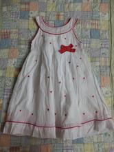 Bílé šaty se srdíčky a mašlí early days, 18-23 m, early days,92