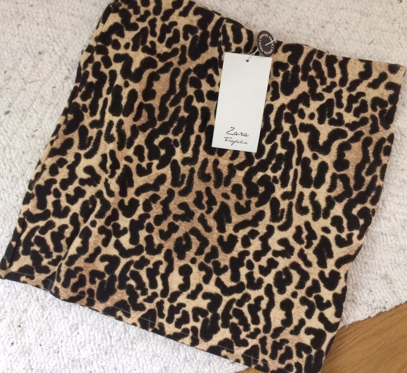 da10c6bb67 Kratší tygrovaná sukně zara s 36