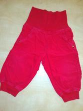 Červené manžestráky/kalhoty vel. 68, lupilu,68