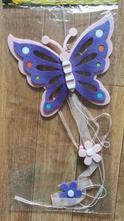 Závěsná dekorace girlanda motýl - fleece,