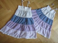 2x šaty květované tečkované h&m, 110+116, 116