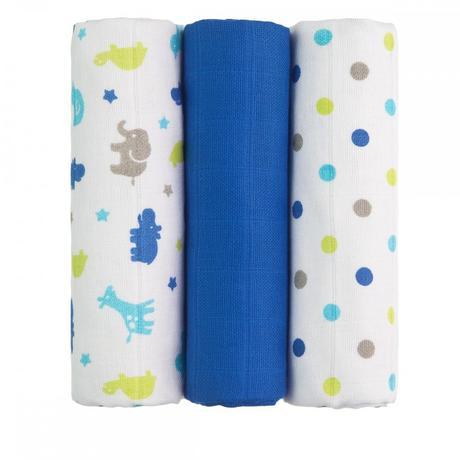 Bavlna plena modré žirafy 70x70 cm,