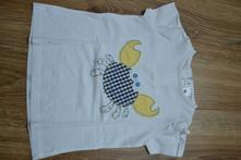 Bavlněné tričko s výšivkou kraba, c&a,92