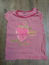 Pruhované tričko s jahodou 12-18m, f&f,86