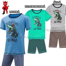 Bavlněné letní pyžamo, komplet s dinosaurem, wolf, wolf,98 / 104 / 110 / 116