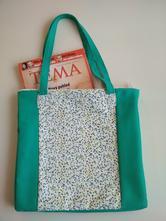 Látková taška přes rameno_zelená,