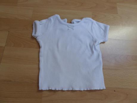 Bílé žebrované tričko, mothercare,80