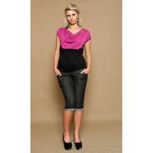 Těhotenské jeans 3/4 - černé, l - xxxl