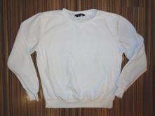 Bílá sametová mikina, new look,158