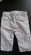 Plátěné kalhoty s proužkem, h&m,68