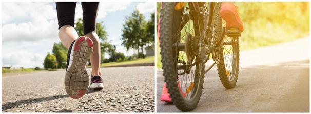 za měsíc červenec mám v nachozeno 150km a 140km jízdy na kole..