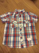 Košile krátký rukáv vel. 98, 92