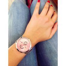 Stříbrno-růžové hodinky tommy hilfiger,