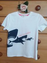 Krásné bílé tričko se žraloky zn. h&m, h&m,116