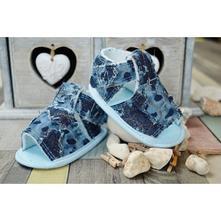 Jeansové capačky/sandálky lola baby - modré, <17