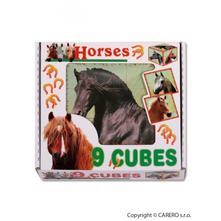Skládací obrázkové kostky horses, dle obrázku,