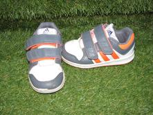 Šedo-bílé tenisky zn. adidas vel. 24, adidas,24