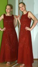 Společenské plesové vínově červené dlouhé šaty, 38