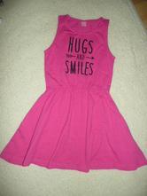 Šaty vel 134/140 růžové nové - vyprané jen, 134