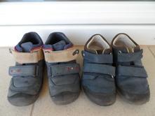 Kožené boty na suchý zip, 23