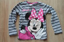 Dívčí proužkované tričko s minnie, disney,116