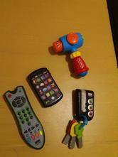 Ovladac,telefon,klice + zdarma kladivko(jako nove),