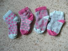 4x kotníkové ponožky, kik,25