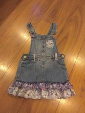 Riflové šaty s laclem vel. 110, f&f,110