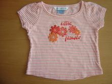 Růžové proužkované tričko john lewis baby, john lewis baby,68