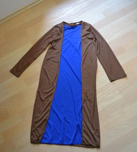 Šaty modrohnědé, karnevalový kostým,