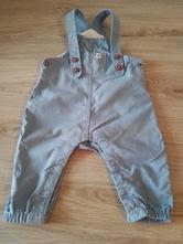 Plátěné kalhoty s laclem, lupilu,68