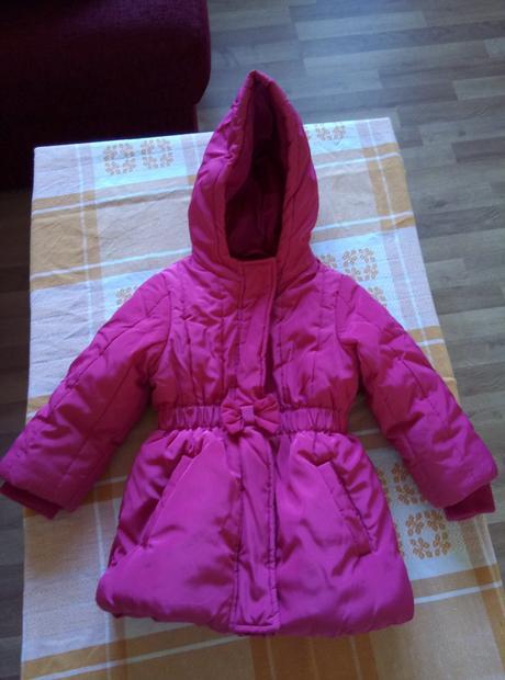 Růžová zimní bunda, marks & spencer,86