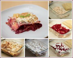 Dnešní povedený počin - Lasagne s kuřecím masem a červenou řepou