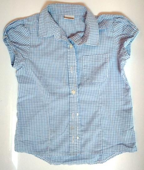 S54 - světle modrá košile dívčí, next,128