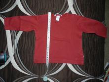 Triko dlouhý rukáv červené, h&m,74