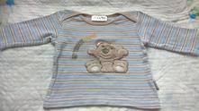 Modrobéžové tričko s medvídkem, okay,62