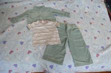 Manžestrový komplet, kalhoty, bunda, triko, c&a,86