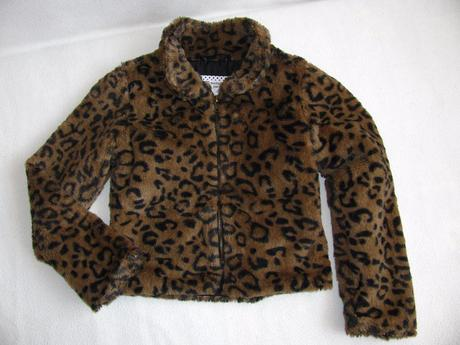 Kožíšková bunda na zip, pumpkin patch,128