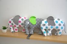 Velký slon - mix barev a vzorů,