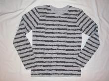 Super černošedé tričko, rebel,158