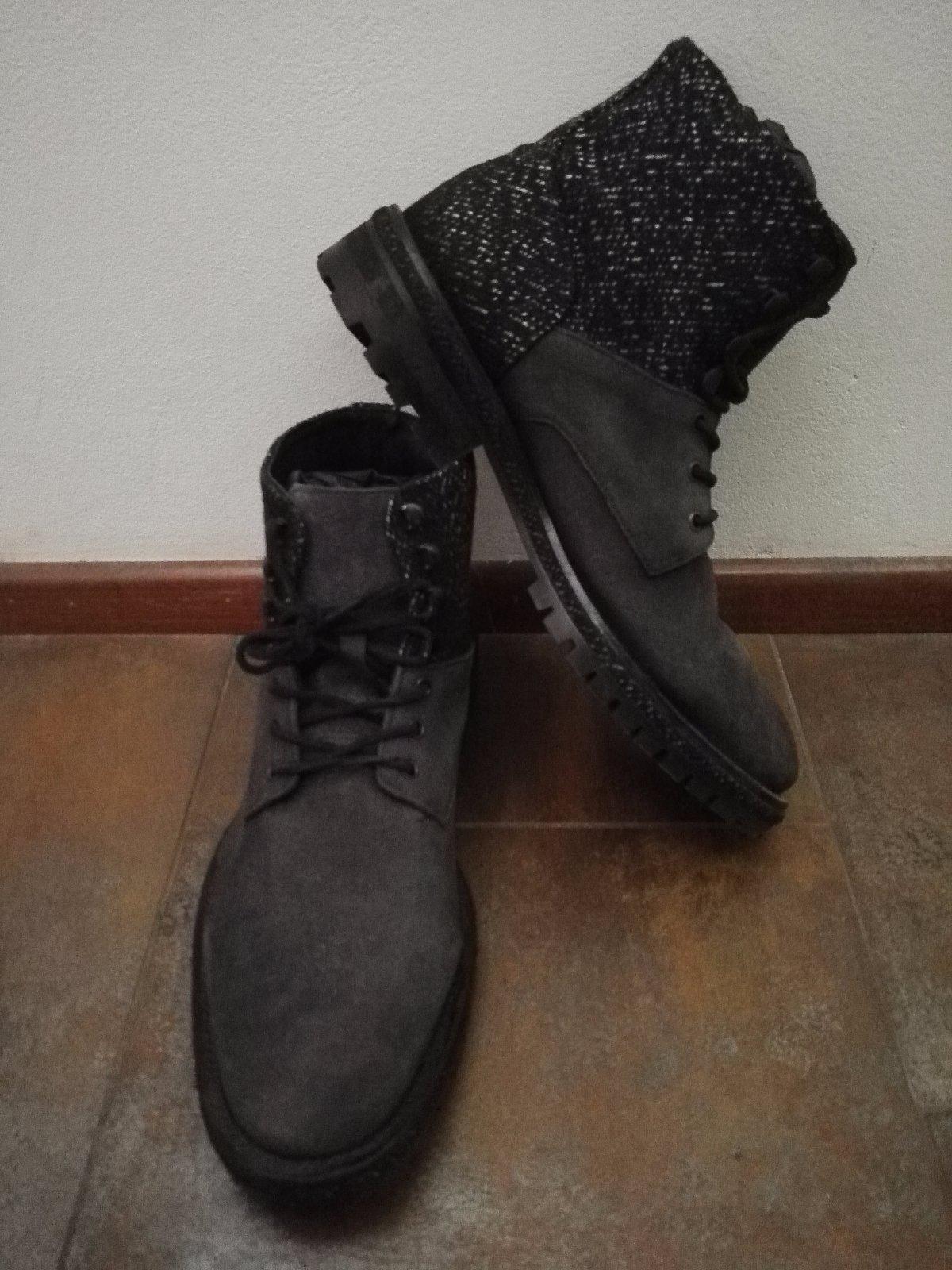 Luxusní kožené pánské boty s tvídem c2f4bdd5086