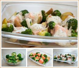Losos s brokolicí a bramborami