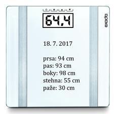 červenec 2017 - BMI - 27,15 - nadváha